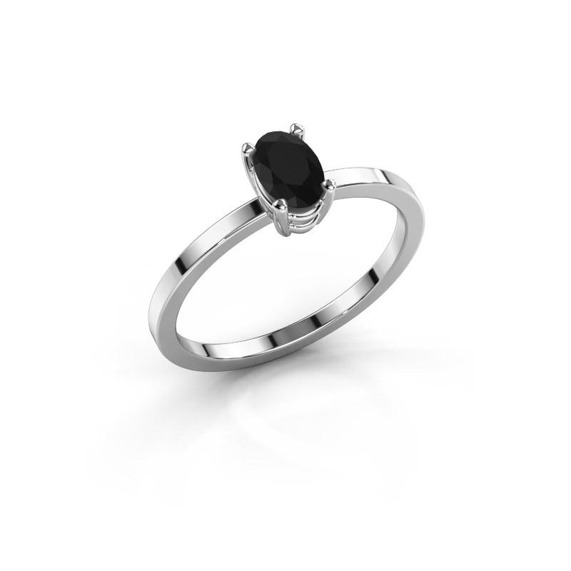 Ring Lynelle 1 585 witgoud zwarte diamant 0.60 crt