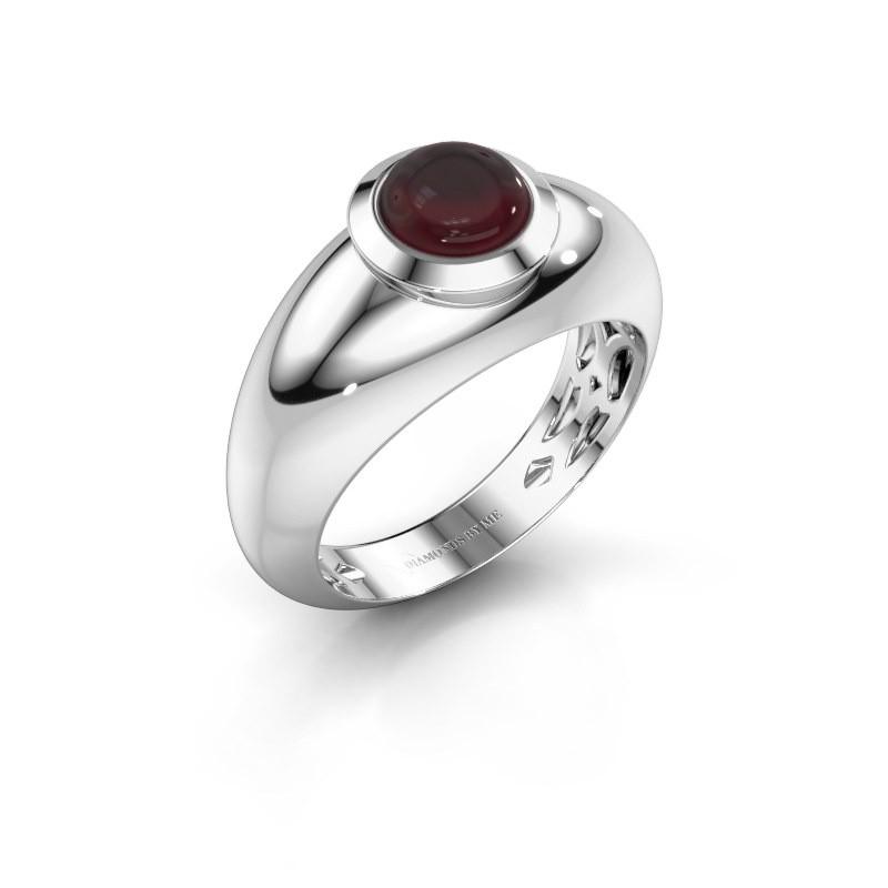 Ring Sharika 925 silver garnet 6 mm