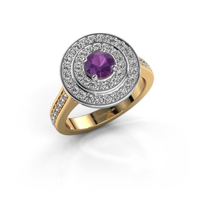 Ring Alecia 2 585 goud amethist 5 mm
