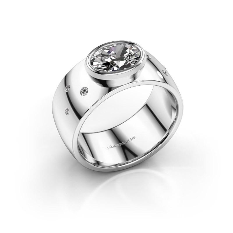 Ring Wilma 2 585 witgoud lab-grown diamant 1.15 crt