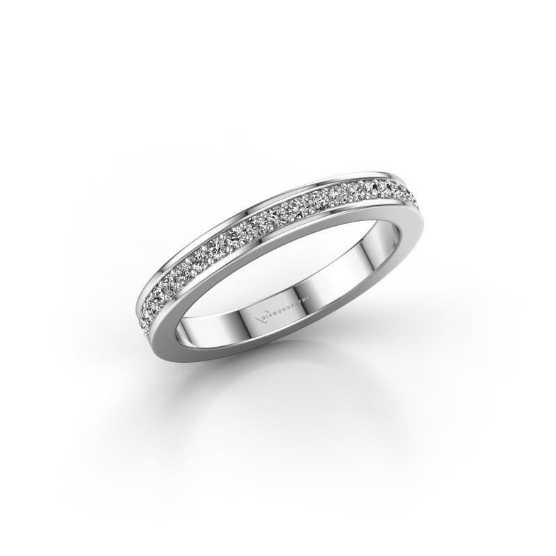 Aanschuifring SRH0030B20H6 585 witgoud diamant 0.252 crt