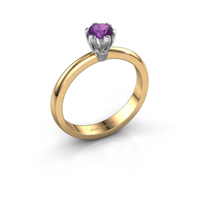 Verlovingsring Julia 585 goud amethist 4 mm