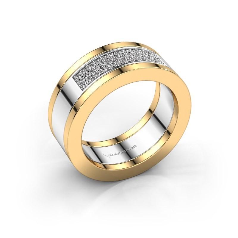 Ring Marita 1 585 witgoud zirkonia 1.1 mm