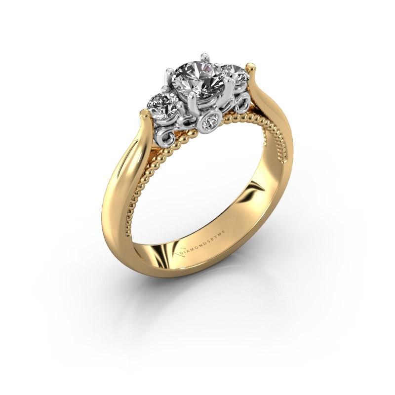 Verlovingsring Tiffani 585 goud diamant 0.64 crt