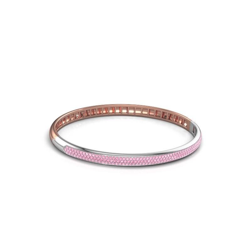 Armband Emely 5mm 585 rosé goud roze saffier 1.1 mm