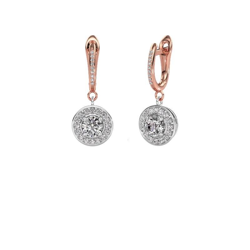 Oorhangers Ninette 2 585 witgoud diamant 1.429 crt