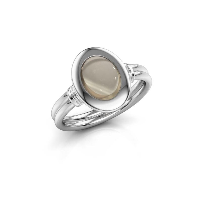 Ring Brittni 925 zilver rookkwarts 9x7 mm