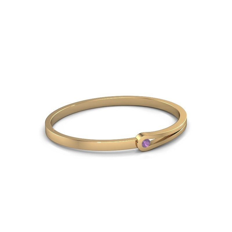 Slavenarmband Kiki 585 goud amethist 4 mm