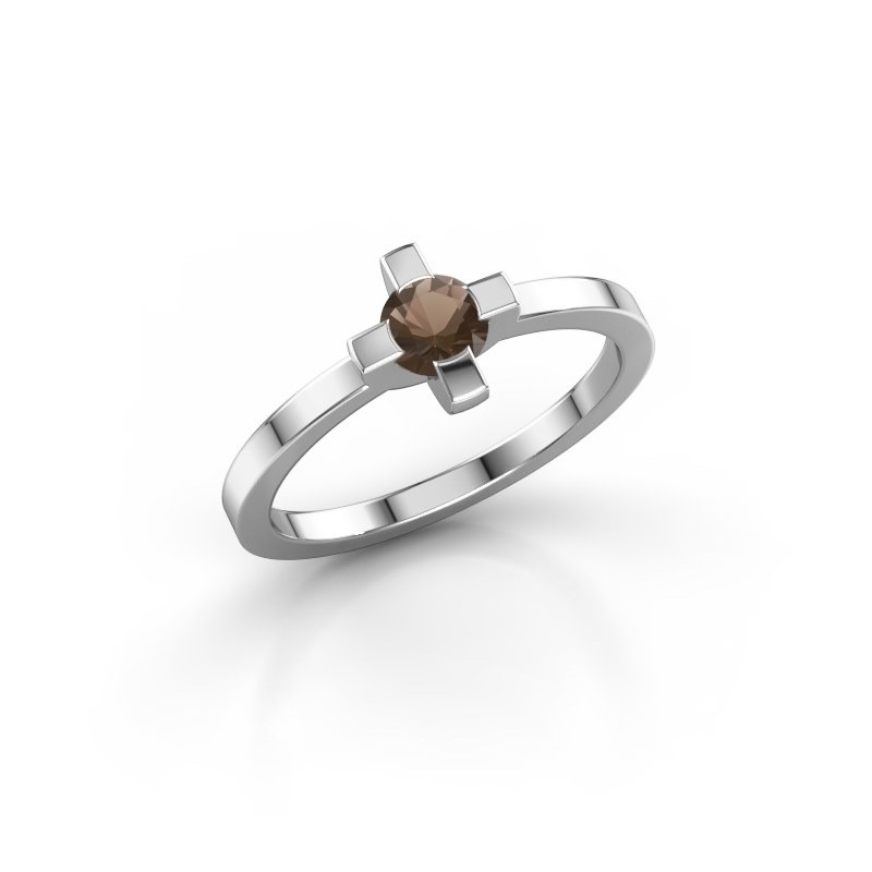 Ring Therese 585 witgoud rookkwarts 4.2 mm
