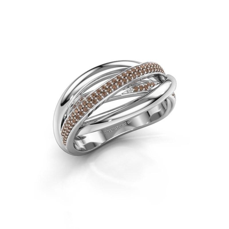 Ring Candice 925 zilver bruine diamant 0.24 crt