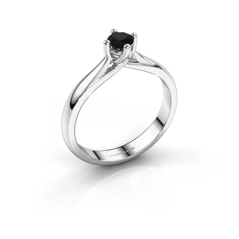 Verlobungsring Janne 925 Silber Schwarz Diamant 0.36 crt