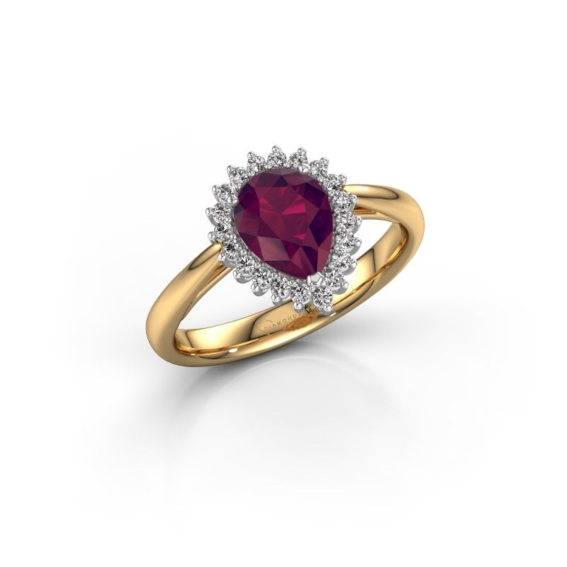 Engagement ring Tilly per 1 585 gold rhodolite 8x6 mm
