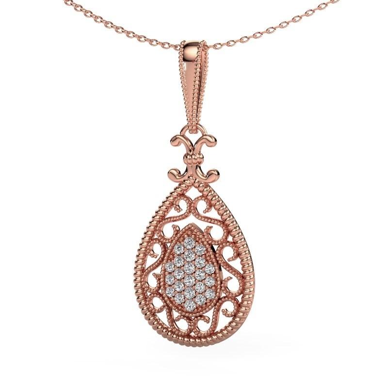 Anhänger Tammie 585 Roségold Lab-grown Diamant 0.27 crt