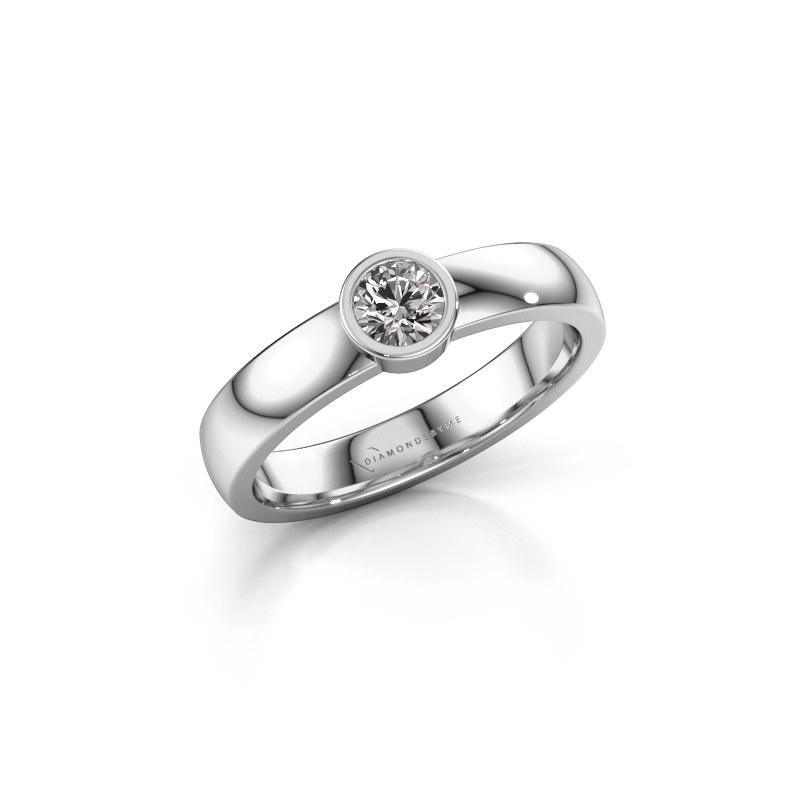 Ring Ise 1 585 white gold diamond 0.25 crt