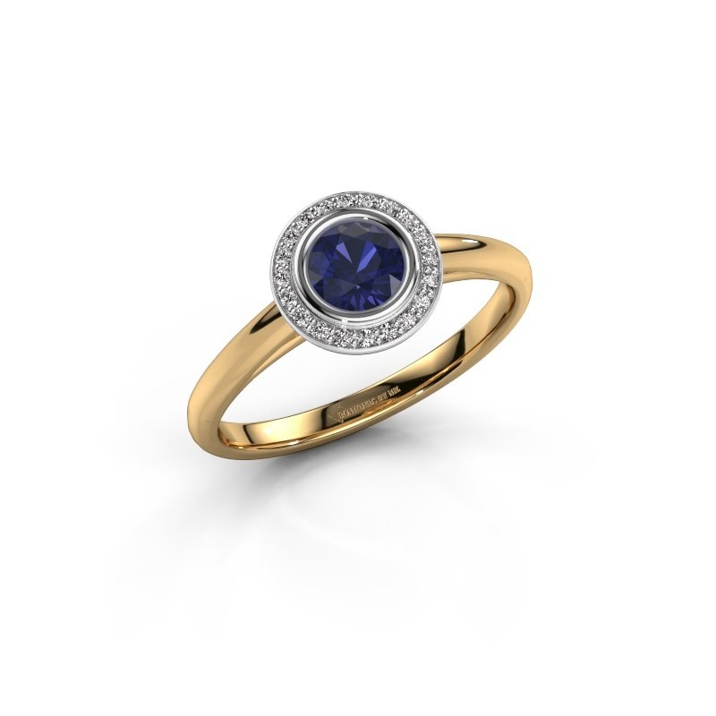 Promise ring Noud 1 RND 585 gold sapphire 4.7 mm