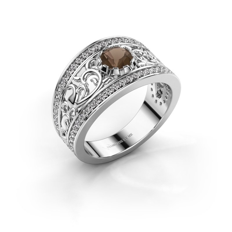 Ring Marilee 925 zilver rookkwarts 5 mm