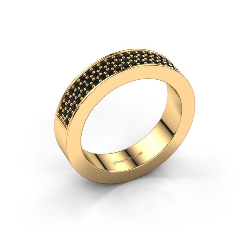 Ring Lindsey 2 375 goud zwarte diamant 0.52 crt