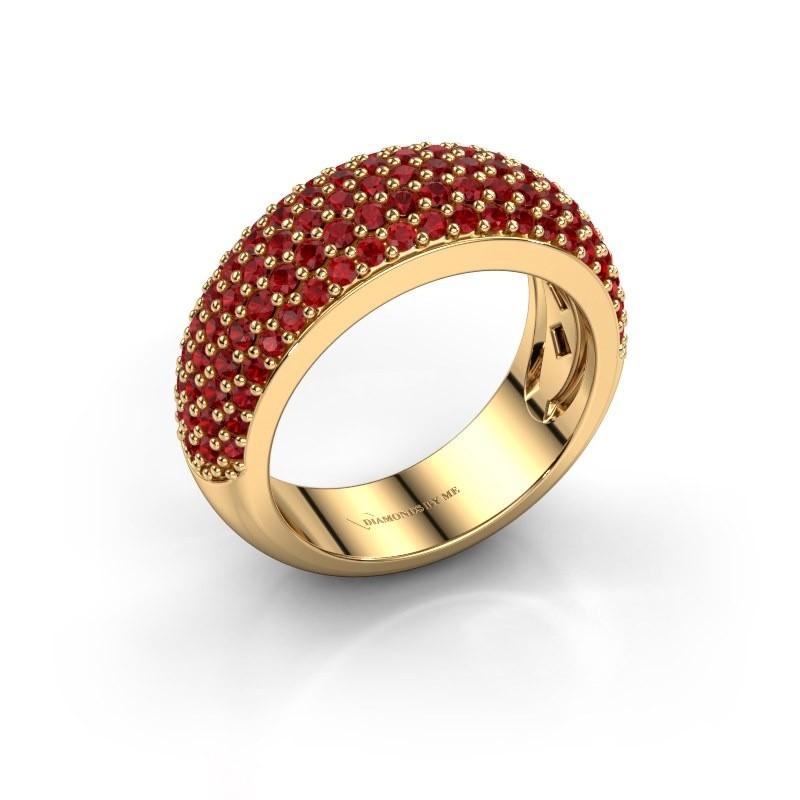 Ring Cristy 375 goud robijn 1.2 mm
