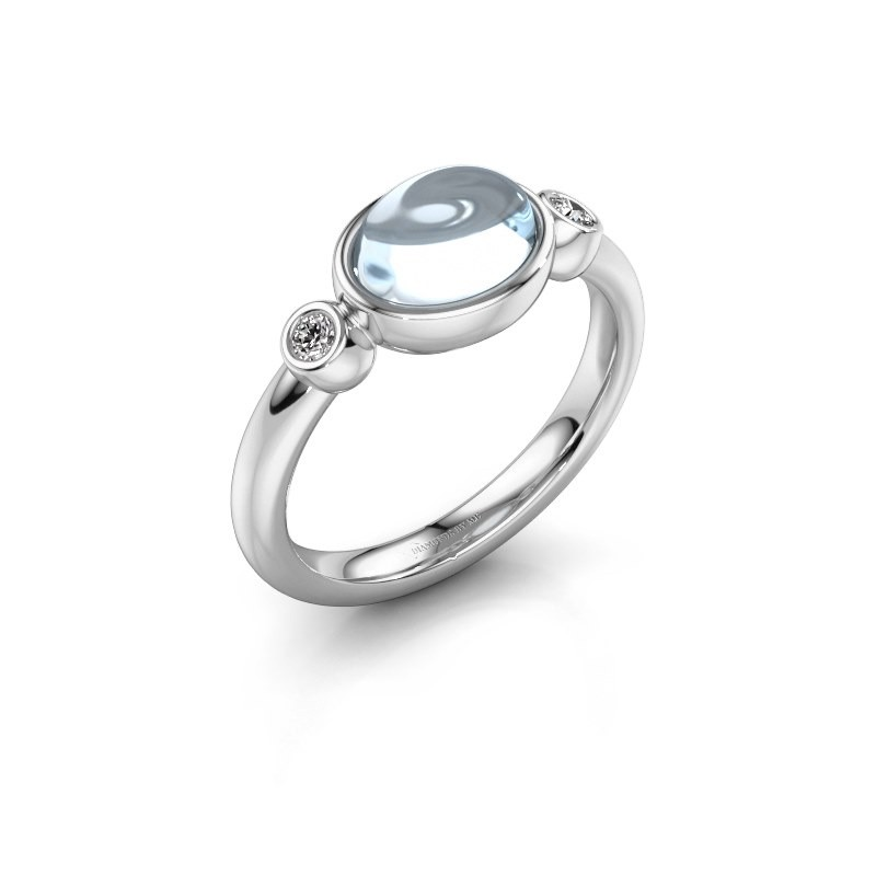 Ring Liane 925 silver aquamarine 8x6 mm