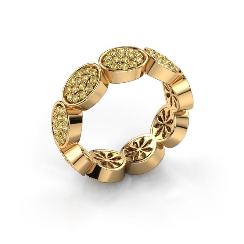 Ring Robin 375 goud gele saffier 1.2 mm