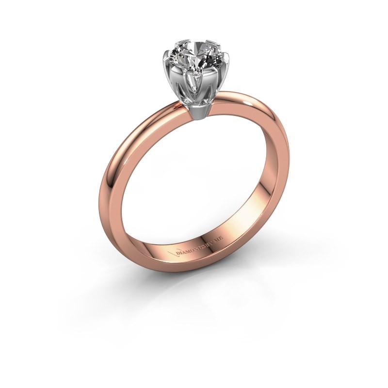 Verlovingsring Julia 585 rosé goud diamant 0.40 crt