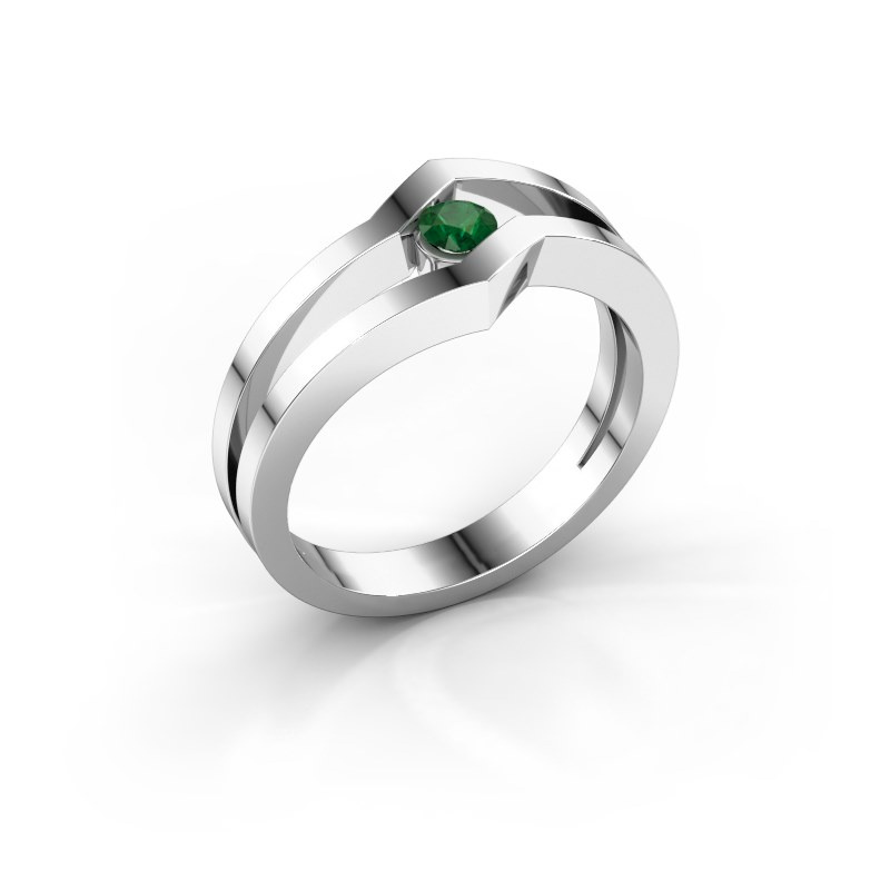 Ring Elize 925 silver emerald 3.4 mm