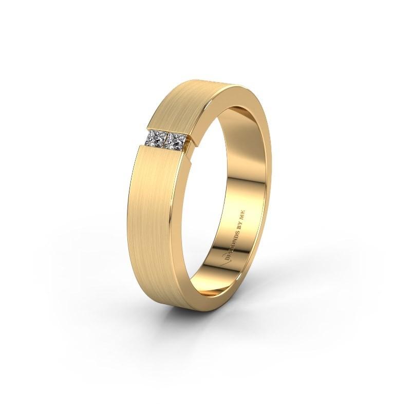 Wedding ring WH2136M15E 375 gold diamond ±5x2.4 mm