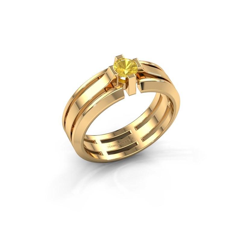 Herrenring Sem 585 Gold Gelb Saphir 4.7 mm