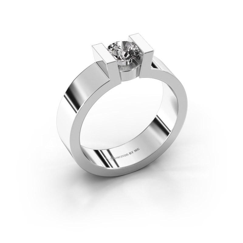 Verlovingsring Lieve 1 925 zilver diamant 0.50 crt