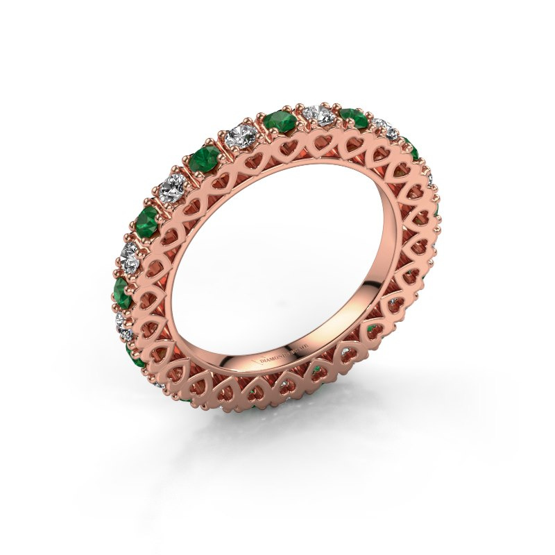 Stackable ring Hailey 585 rose gold emerald 2.2 mm