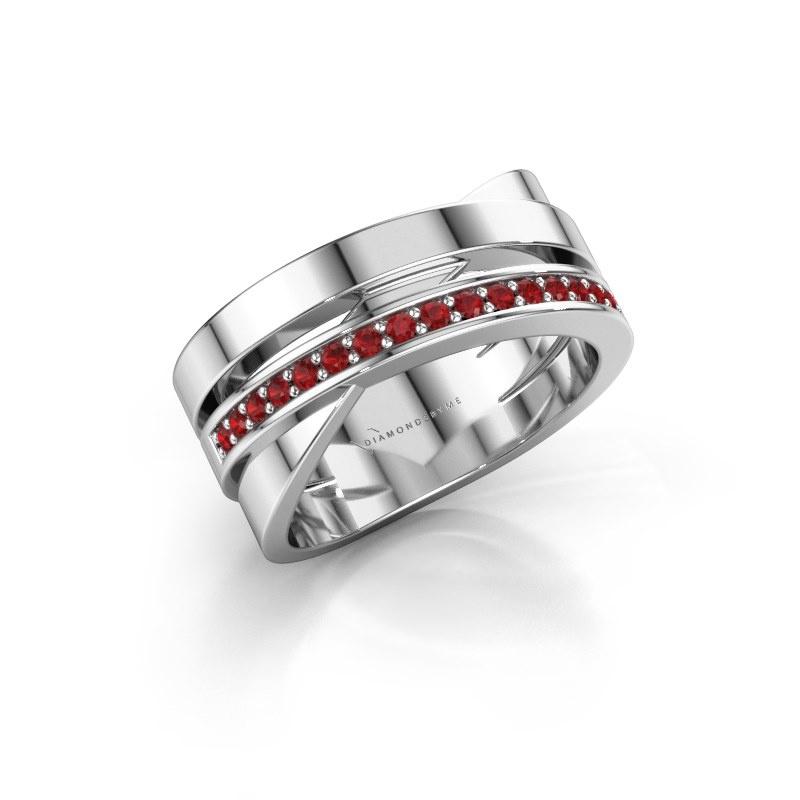 Ring Yolando 950 platinum ruby 1.3 mm