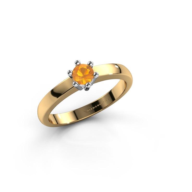 Engagement ring Luna 1 585 gold citrin 3.7 mm