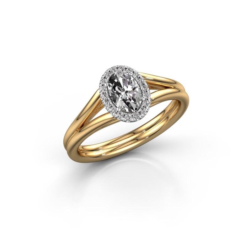 Engagement ring Verla ovl 1 585 gold diamond 0.59 crt