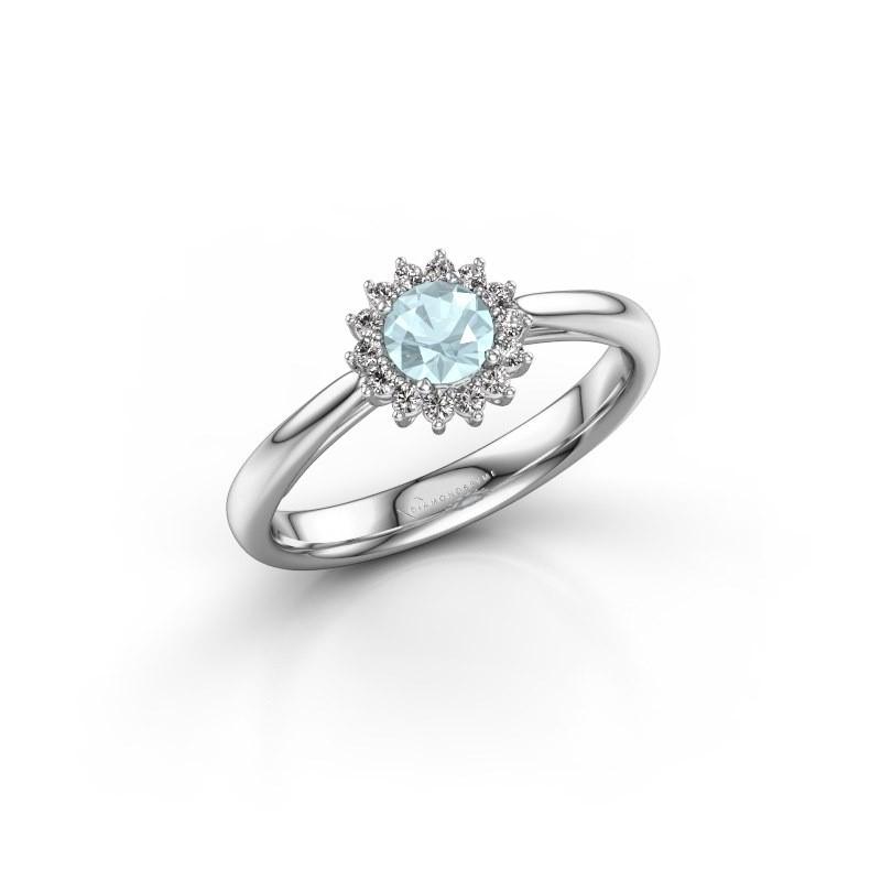 Engagement ring Tilly RND 1 925 silver aquamarine 4.2 mm