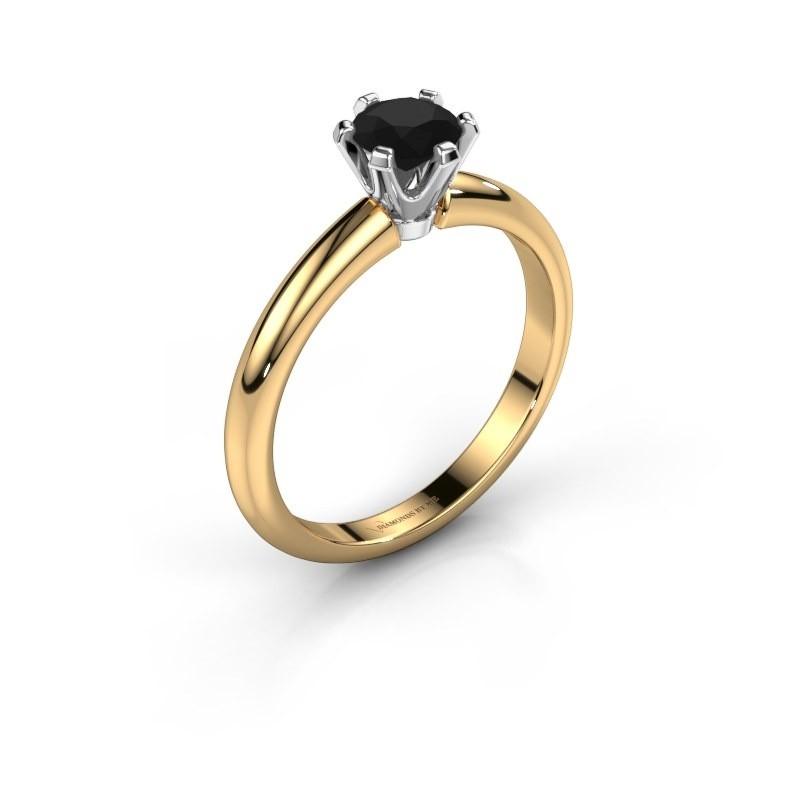 Verlovingsring Tiffy 1 585 goud zwarte diamant 0.60 crt