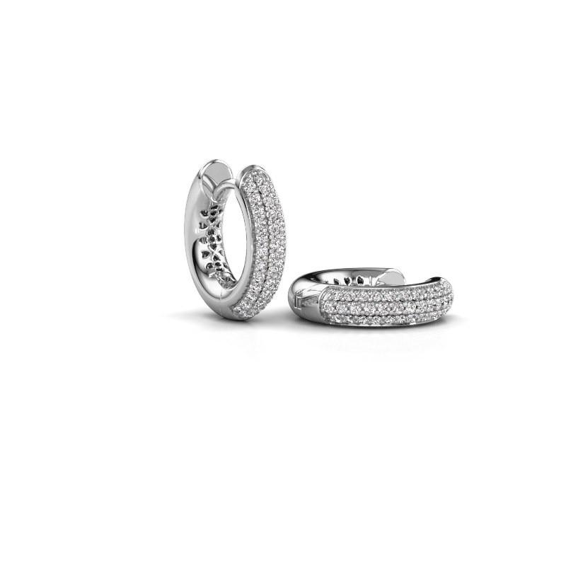 Creolen Tristan B 14 mm 950 platina lab-grown diamant 0.322 crt