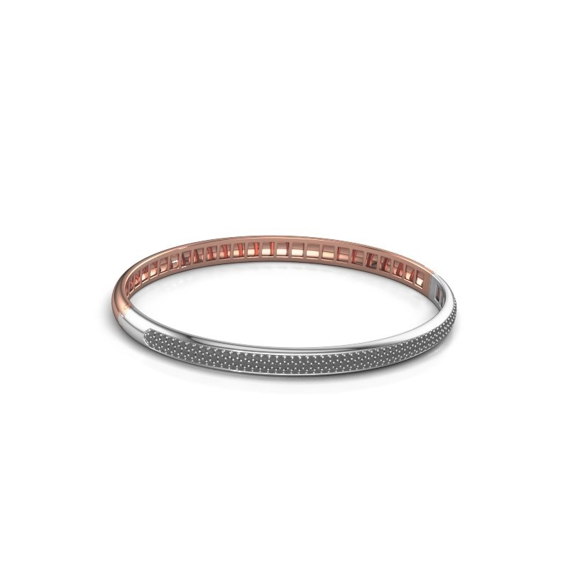 Armband Emely 5mm 585 rosé goud zwarte diamant 1.409 crt