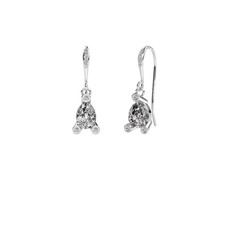Drop earrings Bunny 2 375 white gold diamond 1.375 crt