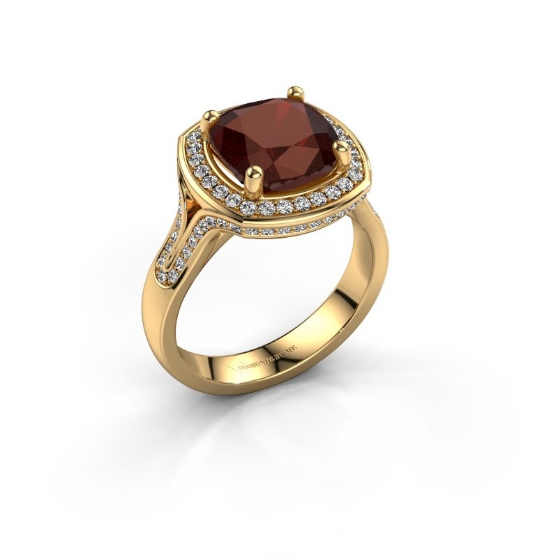 Ring Lili 375 goud granaat 9 mm