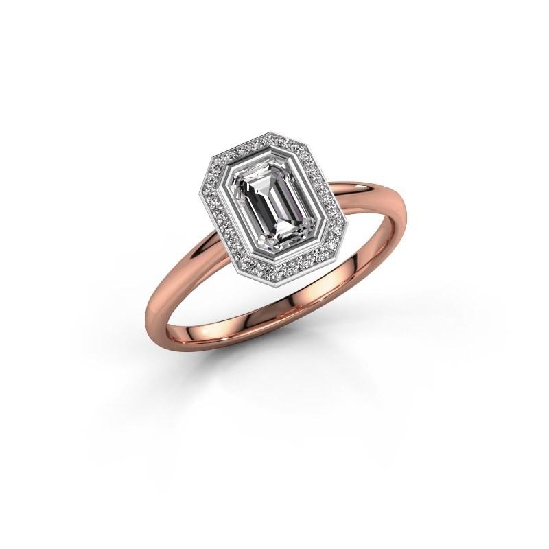 Verlovingsring Noud 1 EME 585 rosé goud lab-grown diamant 0.76 crt