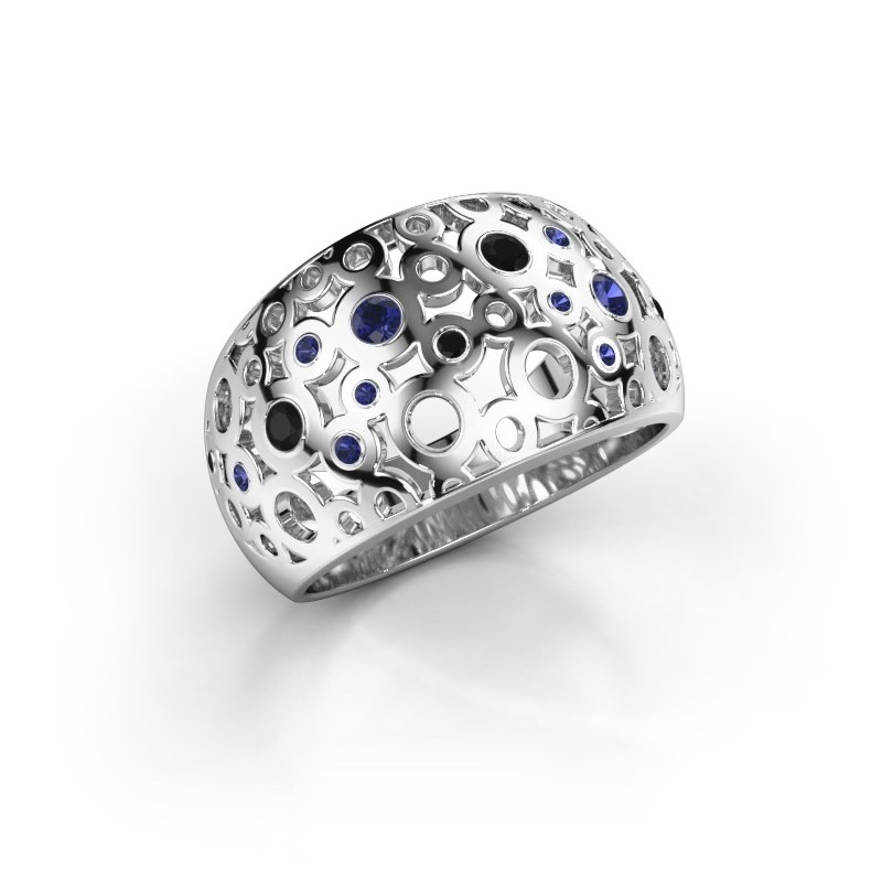 Ring Jaylinn 2 925 zilver saffier 2.2 mm