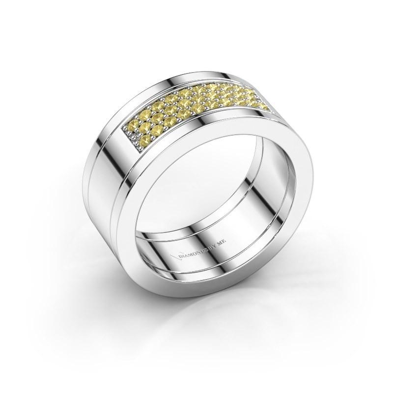 Ring Marita 3 925 silver yellow sapphire 1.3 mm