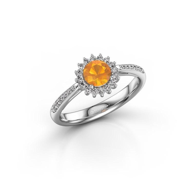 Engagement ring Tilly RND 2 925 silver citrin 5 mm