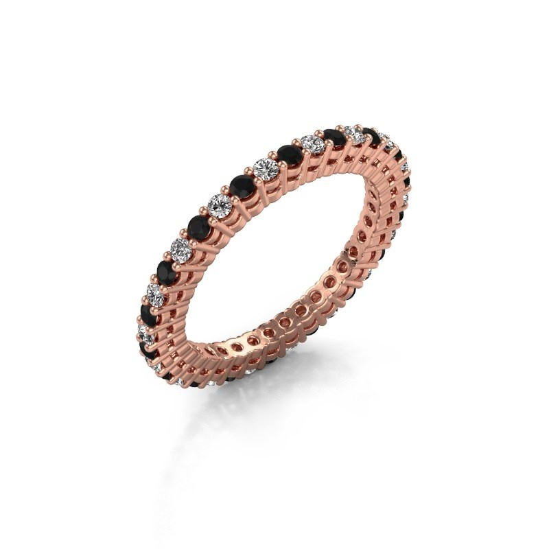Aanschuifring Rufina 2 375 rosé goud lab-grown diamant 0.792 crt