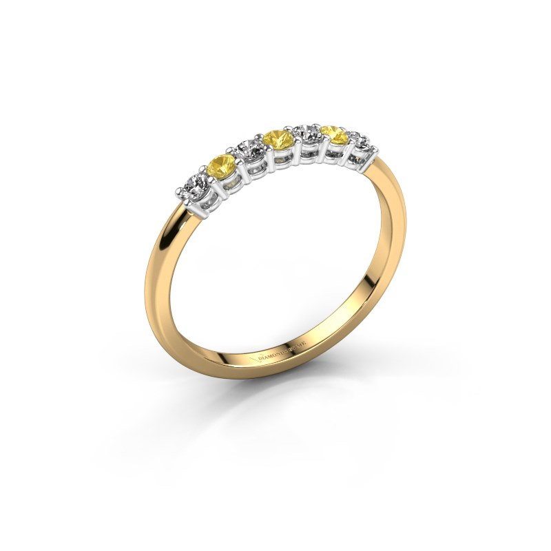 Engagement ring Michelle 7 585 gold yellow sapphire 2 mm