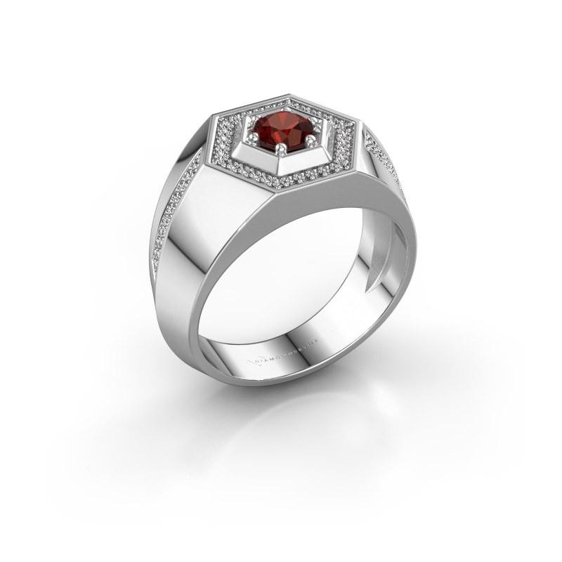 Men's ring Sjoerd 925 silver garnet 4.7 mm