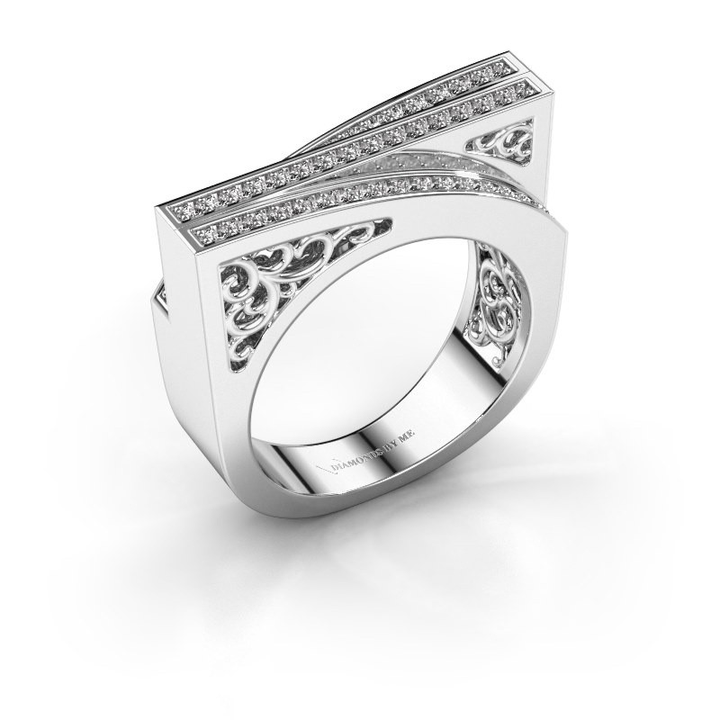 Bague Magda 585 or blanc diamant synthétique 0.338 crt