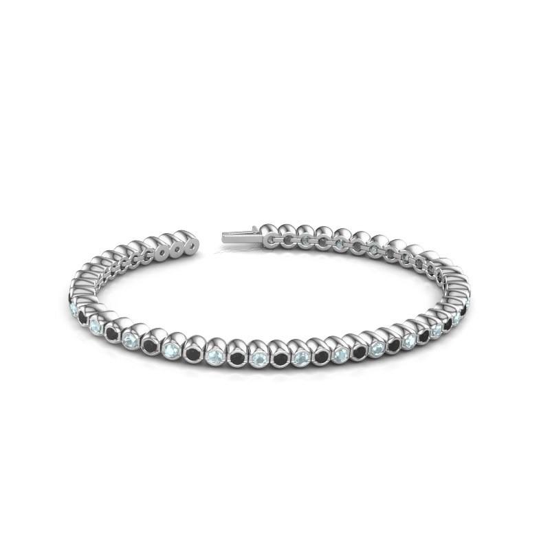 Tennisarmband Patrica 585 witgoud zwarte diamant 3.025 crt