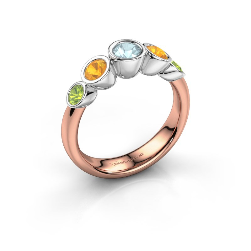 Ring Lizz 585 rose gold aquamarine 4 mm