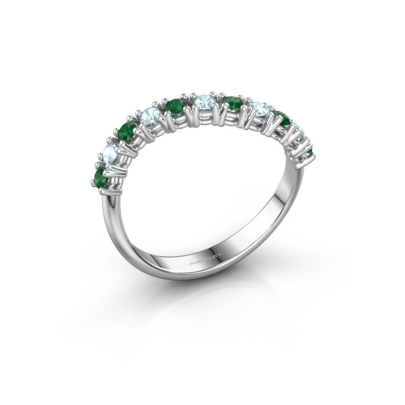 Ring Eliza 925 Silber Smaragd 2 mm
